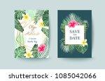 summer card design. save the... | Shutterstock .eps vector #1085042066