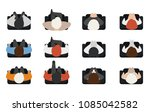 top view of people set isolated ... | Shutterstock .eps vector #1085042582