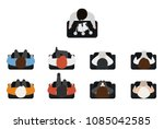top view of people set isolated ... | Shutterstock .eps vector #1085042585