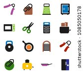 solid vector icon set  ... | Shutterstock .eps vector #1085050178