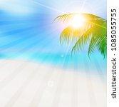ocean summer palm tree...   Shutterstock .eps vector #1085055755