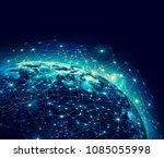 earth from space. best internet ... | Shutterstock . vector #1085055998