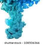 cloud of ink in water isolated... | Shutterstock . vector #108506366