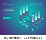 cryptocurrency and blockchain.... | Shutterstock .eps vector #1085080316