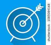 arrow hit the target icon thin... | Shutterstock .eps vector #1085084168