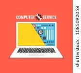laptop repair  computer service....   Shutterstock .eps vector #1085092058