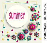 summer background with bright... | Shutterstock .eps vector #1085096642