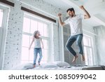 i love you  dad  handsome young ... | Shutterstock . vector #1085099042