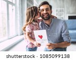 i love you  dad  handsome young ... | Shutterstock . vector #1085099138