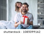 i love you  dad  handsome young ... | Shutterstock . vector #1085099162