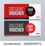 gift voucher design template.... | Shutterstock .eps vector #1085099672