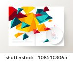 book cover design template with ... | Shutterstock .eps vector #1085103065