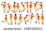 soccer male player vector.... | Shutterstock .eps vector #1085103212