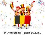 russia 2018 world cup  belgium... | Shutterstock .eps vector #1085103362