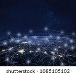 network communication around...   Shutterstock . vector #1085105102