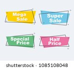 collection of sale discount... | Shutterstock .eps vector #1085108048