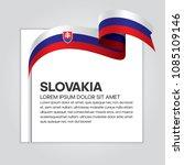 slovakia flag background | Shutterstock .eps vector #1085109146
