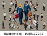businessmen executive people in ... | Shutterstock .eps vector #1085112242