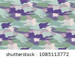 abstract camouflage spotted... | Shutterstock .eps vector #1085113772