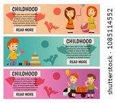 children. kindergarten.... | Shutterstock .eps vector #1085114552