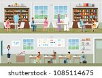 academic students at the...   Shutterstock .eps vector #1085114675