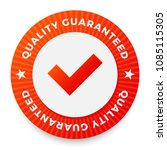 quality guarantee label  round...   Shutterstock .eps vector #1085115305