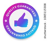 quality guarantee label  round...   Shutterstock .eps vector #1085115308