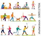 active people vector woman or... | Shutterstock .eps vector #1085117036
