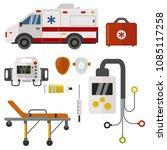 ambulance icons medicine health ... | Shutterstock .eps vector #1085117258