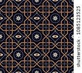 space window. seamless pattern... | Shutterstock .eps vector #1085123525