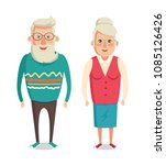 grandparents cartoon characters ... | Shutterstock .eps vector #1085126426