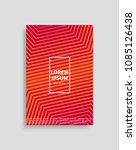 brochure mockup with spare... | Shutterstock .eps vector #1085126438