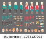 grandpa and grandma abstract...   Shutterstock .eps vector #1085127038