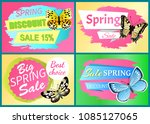 spring sale labels set... | Shutterstock .eps vector #1085127065