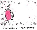 fresh organic smoothies or... | Shutterstock .eps vector #1085127572