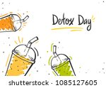 fresh organic smoothies or... | Shutterstock .eps vector #1085127605