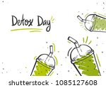 fresh organic smoothies or... | Shutterstock .eps vector #1085127608