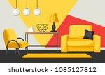 interior living room. furniture ... | Shutterstock .eps vector #1085127812