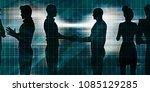 exchanging ideas between... | Shutterstock . vector #1085129285