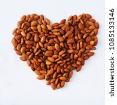 Small photo of Almond meal helps maintain health and almonds on white background