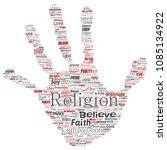 vector conceptual religion  god ...   Shutterstock .eps vector #1085134922