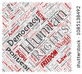 vector conceptual human rights... | Shutterstock .eps vector #1085138492