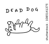 cartoon dog lost consciousness. ... | Shutterstock . vector #1085141375