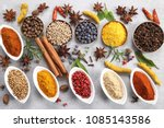 colorful and aromatic spices... | Shutterstock . vector #1085143586