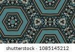 hand painted kaleidoscope tile. ... | Shutterstock . vector #1085145212