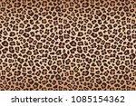 leopard fur beige brown texture ... | Shutterstock . vector #1085154362
