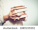 the man with a book | Shutterstock . vector #1085155352