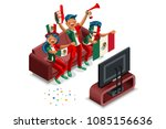 russia 2018 world cup  mexican... | Shutterstock .eps vector #1085156636