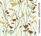 bright summer flower branch... | Shutterstock .eps vector #1085159198