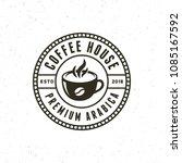 modern vintage coffee shop... | Shutterstock .eps vector #1085167592